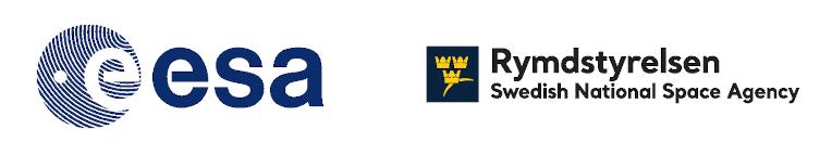 logotyperna för ESA och Rymdstyrelsen